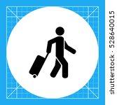 passenger pulling rolling bag... | Shutterstock .eps vector #528640015