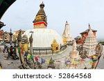 swayambhunath  monkey temple ... | Shutterstock . vector #52864568