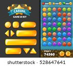 vector casual glass buttons for ... | Shutterstock .eps vector #528647641