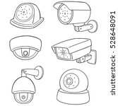 vector set of security camera | Shutterstock .eps vector #528648091