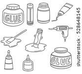 vector set of glue | Shutterstock .eps vector #528648145