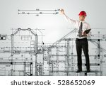 a young architect planning and... | Shutterstock . vector #528652069