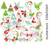 christmas elements collection.... | Shutterstock .eps vector #528652465