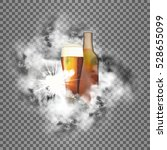 clean brown bottle with liquid... | Shutterstock .eps vector #528655099