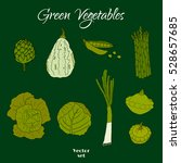 hand drawn doodle green... | Shutterstock .eps vector #528657685