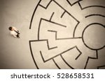 lost business man looking for a ... | Shutterstock . vector #528658531