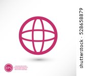 globe icon vector illustration. ... | Shutterstock .eps vector #528658879