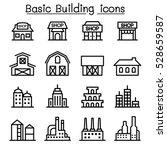 basic building icon set | Shutterstock .eps vector #528659587