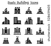 building icon set | Shutterstock .eps vector #528659605