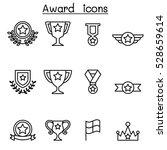 award   winning icon set in... | Shutterstock .eps vector #528659614