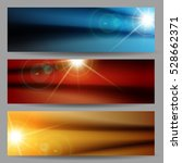 set of horizontal banners with... | Shutterstock .eps vector #528662371