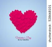 valentine's day heart symbol.