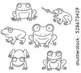 vector set of frog | Shutterstock .eps vector #528673429