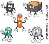vector set of battery | Shutterstock .eps vector #528673435