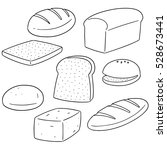 vector set of bread | Shutterstock .eps vector #528673441