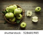 Green Apples On Wooden...