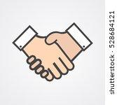 handshake icon vector... | Shutterstock .eps vector #528684121