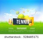 tennis poster vector background.... | Shutterstock .eps vector #528685171