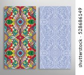 vertical seamless patterns set  ... | Shutterstock .eps vector #528686149