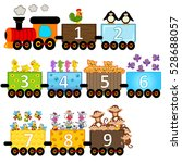 train with number of animals  ... | Shutterstock .eps vector #528688057
