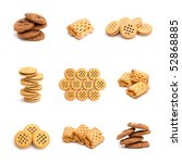 collage of cookies isolated on... | Shutterstock . vector #52868885