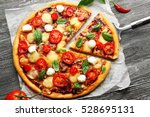 Fresh Pizza With Tomatoes ...