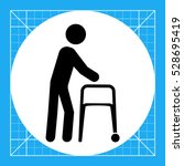 person with walker icon | Shutterstock .eps vector #528695419