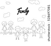 family  father  mother  brother ... | Shutterstock .eps vector #528697081