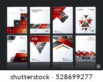 business vector set. brochure... | Shutterstock .eps vector #528699277