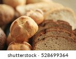lots of fresh bread and slices... | Shutterstock . vector #528699364