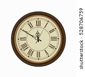 old vintage clock face isolated ... | Shutterstock .eps vector #528706759