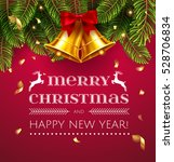 vector christmas greetings and  ... | Shutterstock .eps vector #528706834