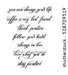 black and white handwritten... | Shutterstock .eps vector #528709519