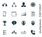 set of 16 hr icons. can be used ...