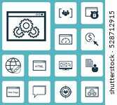 set of 12 marketing icons. can... | Shutterstock .eps vector #528712915