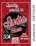 vintage audio store poster | Shutterstock .eps vector #528715135