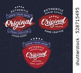 set of original hand written... | Shutterstock .eps vector #528715495