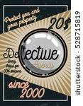 color vintage detective agency... | Shutterstock .eps vector #528715819