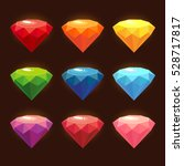 a set of colored gems | Shutterstock .eps vector #528717817
