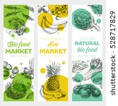 vector hand drawn healthy food... | Shutterstock .eps vector #528717829