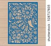 die cut card. laser cut vector...   Shutterstock .eps vector #528717835