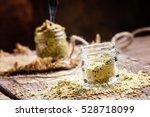Mustard Powder In A Glass Jar ...