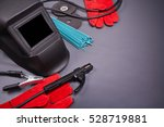welding equipment  welding mask ... | Shutterstock . vector #528719881