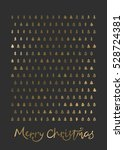 christmas hand drawn template... | Shutterstock .eps vector #528724381