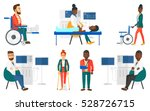 ultrasound doctor sitting with... | Shutterstock .eps vector #528726715