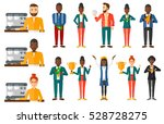 successful small business owner.... | Shutterstock .eps vector #528728275
