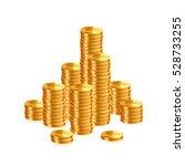 stacks of gold coins. vector | Shutterstock .eps vector #528733255