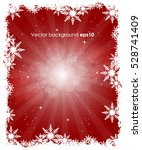 christmas winter red background ... | Shutterstock .eps vector #528741409