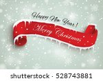 merry christmas red scroll... | Shutterstock .eps vector #528743881