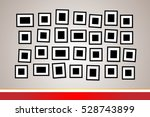 picture frame on the wall... | Shutterstock .eps vector #528743899